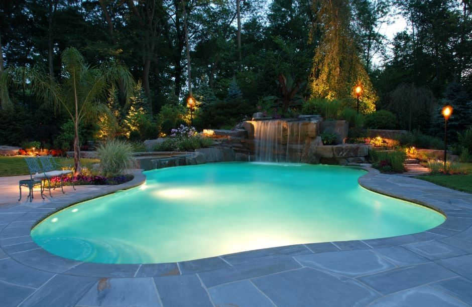 luxury pool Vegas backyard